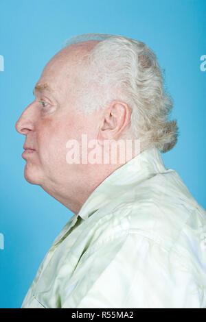 Profile of a senior man - Stock Photo