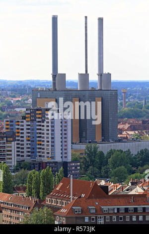 HANOVER, GERMANY - MAY 03: Linden Gas Power Plant in Hanover on MAY 03, 2011. Famous Industrial Landmark Heizkraftwerk in Hannover, Germany. - Stock Photo