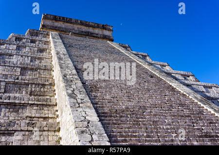 Stairs on Chichen Itza Pyramid - Stock Photo