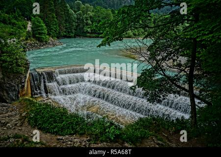 lechfall near fussen - Stock Photo