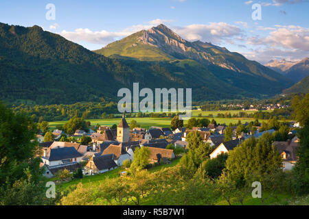 Village d'Aucun & Arrens-Marsous, Hautes- Pyrenees, France - Stock Photo
