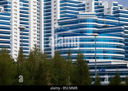 Kazakhstan, Astana, Kazakhstan, Astana, Nurzhol bulvar, central boulevard of Kazakhstan's new governmental and administrative zone, - Stock Photo