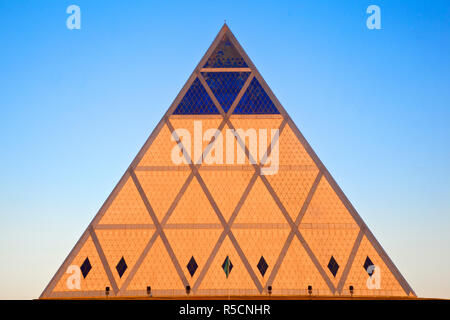 Kazakhstan, Astana, Palace of Peace and Reconciliation pyramid designed by Sir Norman Foster - Stock Photo