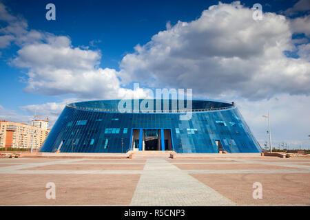 Kazakhstan, Astana, Shabyt Palace of Arts - Stock Photo