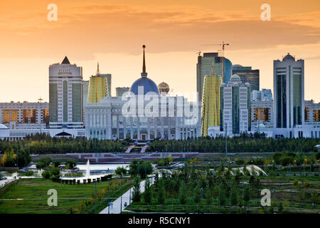 Kazakhstan, Astana, Ak Orda Presidential Palace of President Nursultan Nazarbayev - Stock Photo