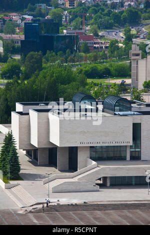 Lithuania, Vilnius, elevated view of National Gallery - Stock Photo