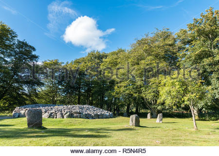 Balnuaran of Clava prehistoric cemetery - Stock Photo