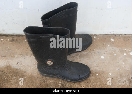 Old rubber boot - Stock Photo