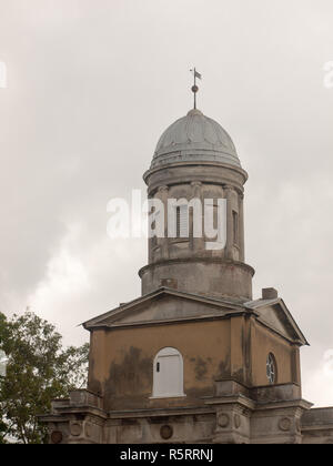 famous remaining church towers in mistley one burnt town - Stock Photo