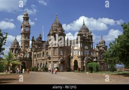 New palace built in 1877 to 1884, kolhapur, maharashtra, india - Stock Photo