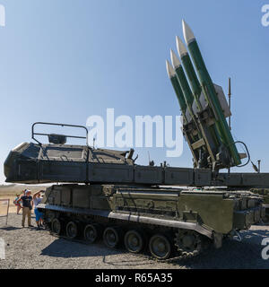 International military technical forum 'ARMY-2018». Russian self-propelled medium-range surface-to-air missile system  Buk-M2 - Stock Photo