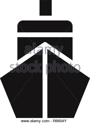 Ship front vector icon - Stock Photo