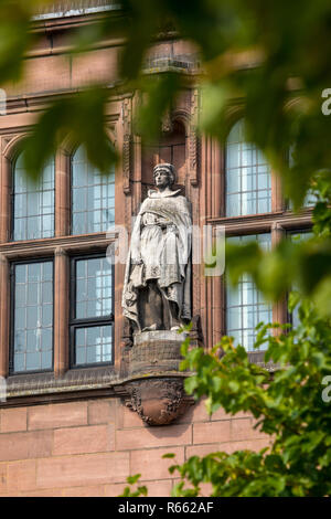 An exterior detail of the historic Coventry Council House in the city of Coventry in the UK. - Stock Photo