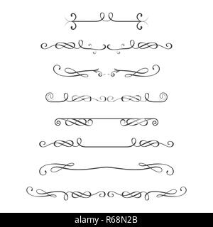 Dividers set,isolated on white background,stock vector illustration - Stock Photo