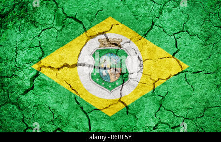 State of Ceara, state of Brazil, flag - Stock Photo