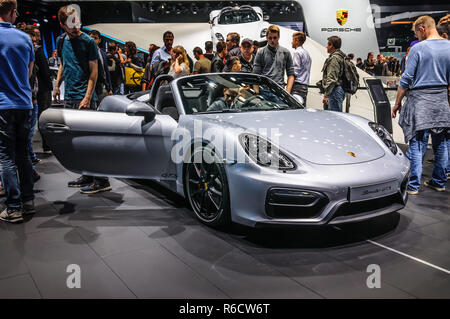 FRANKFURT - SEPT 2015: presented at IAA International Motor Show on September 20, 2015 in Frankfurt, Germany - Stock Photo