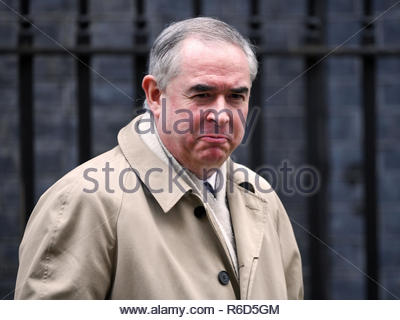 London, UK. 04th Dec, 2018. Geoffrey Cox QC MP, Attorney General, leaves the weekly Cabinet Meeting, 10 Downing Street. Credit: Bart Lenoir/Alamy Live News - Stock Photo