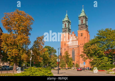 Saint Peter And Paul Archicathedral Basilica On Ostrow Tumski Island In Poznan, Poland - Stock Photo