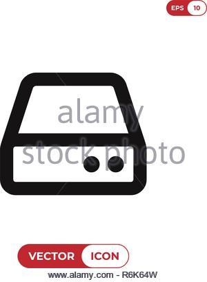 Hard drive vector icon - Stock Photo