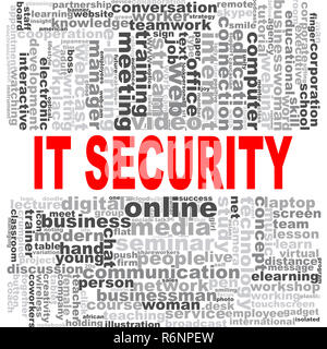 IT security word cloud - Stock Photo