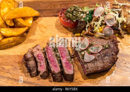Grilled Australian Wagyu Beef - Stock Photo