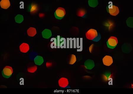 glows colorful bokeh - Stock Photo