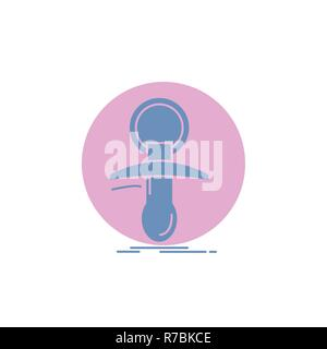 Baby, dummy, newbie, nipple, noob Glyph Icon. - Stock Photo