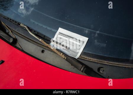 Caution money traffic ticket - Stock Photo