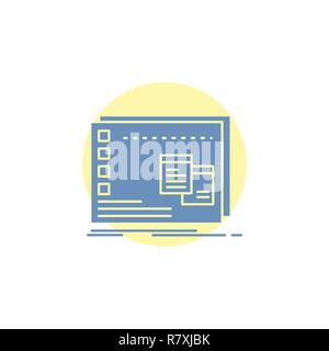 Window, Mac, operational, os, program Glyph Icon. - Stock Photo