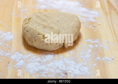 Knead dough with hands - Stock Photo