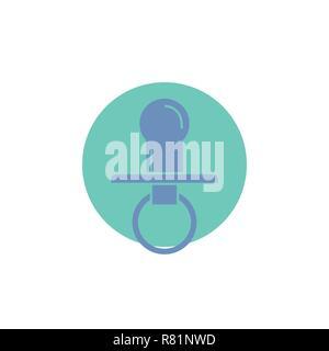 nipple, baby, dummy, pacifier, kids Glyph Icon. - Stock Photo
