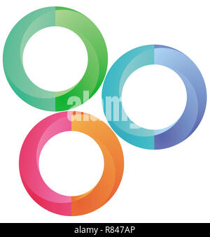 Info graphic circles,  illustration - Stock Photo