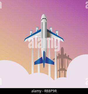 Air travel infographics template. Eps10 vector illustration - Stock Photo