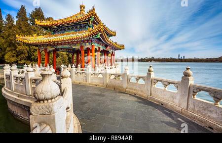 In Beihai Park in Beijing China - Stock Photo