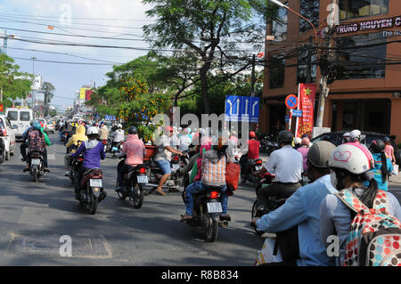 Vietnam: Tons of CO2-emmissions every day are polluting the air in Saigon/Ho Chi Ming City - Stock Photo