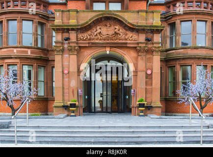 14 December 2018 Slieve Donard Hotel Newcastle County Down. This premier luxurious Hotel seen here in mid December  is located on the shore of Dundrum - Stock Photo