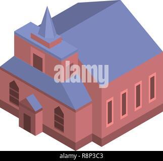 Catholic church icon, isometric style - Stock Photo