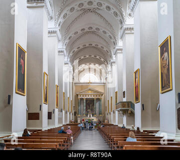 Interior of Vilnius Cathederal (Cathedral Basilica of St Stanislaus and St Ladislaus), Vilnius, Lithuania - Stock Photo
