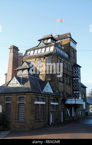 Hook Norton Brewery in Winter - Stock Photo