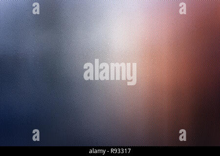 light abstraction on corrugated glass in the form of a beautiful bokeh. Reflex glass. Carbon texture. - Stock Photo