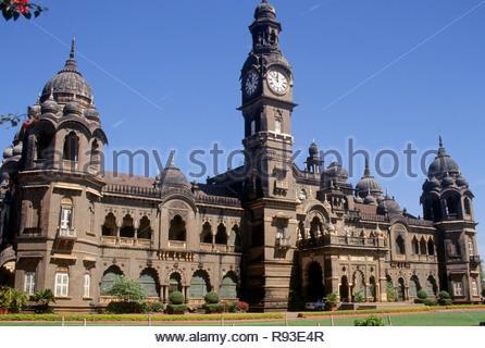 New palace at Maharaja built in 1877 to 1884, kolhapur, maharashtra, india - Stock Photo