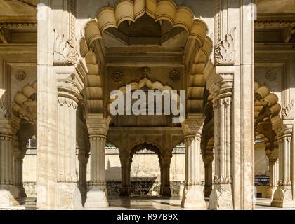 Royal Gaitor Tumbas, Gaitor Ki Chhatriyan, Jaipur, Rajasthan, India - Stock Photo