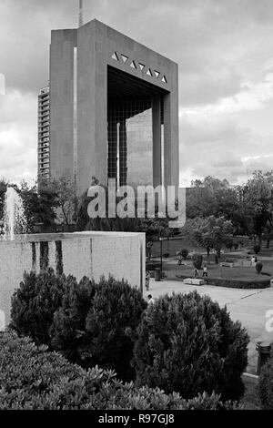 MONTERREY, NL/MEXICO - NOV 10, 2003: High Court of Justice building at the Macroplaza - Stock Photo