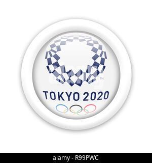 Olympic Games Tokyo 2020 logo - Stock Photo
