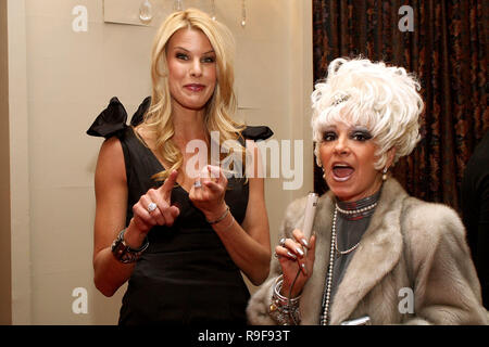 NEW YORK - FEBRUARY 12:  TV Personality Beth Ostrosky-Stern and Cognac Wellerlane attend the North Shore Animal League's Pre-Westminster Fashion Show at the Hotel Pennsylvania on February 12, 2010 in New York City.  (Photo by Steve Mack/S.D. Mack Pictures) - Stock Photo