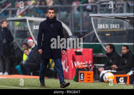 The Hague, Netherlands 23 december 2018 Soccer Dutch Eredivisie: ADO Den Haag v Feyenoord   Feyenoord trainer Giovanni van Bronckhorst Credit: Orange Pictures vof/Alamy Live News - Stock Photo