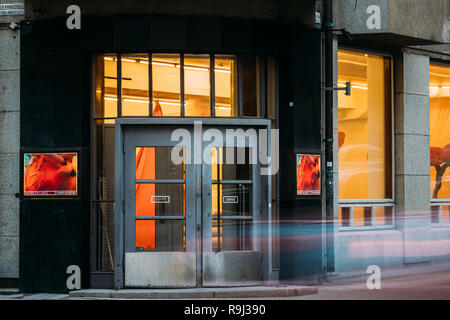 Helsinki, Finland - December 7, 2016: Entrance To Galleria Sinne. Sinne is a venue for Finnish and international contemporary art. - Stock Photo