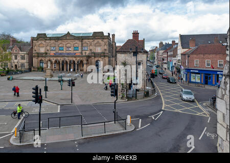 York, England - April 2018: Old building of York Art Gallery at Exhibition Square on Bootham in historic district of City of York, England, UK - Stock Photo