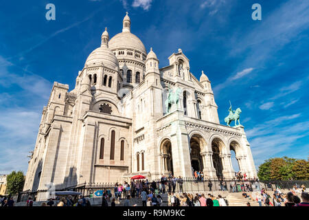 Basilica of the Sacred Heart of Paris more commonly known as The Sacre Coeur - Stock Photo