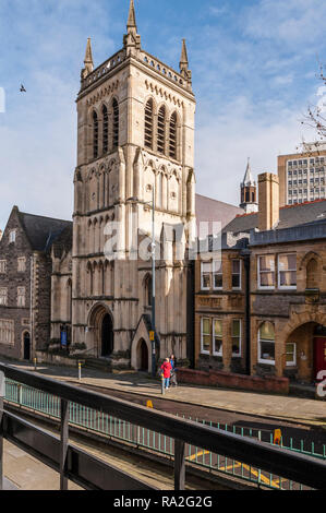Stow Hill, Newport, South Wales, UK. St Mary's Church (R.C.) was built in 1839. - Stock Photo